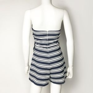 5cc035fa34d Zara Pants - Zara Asymmetrical Hem Striped Strapless Romper